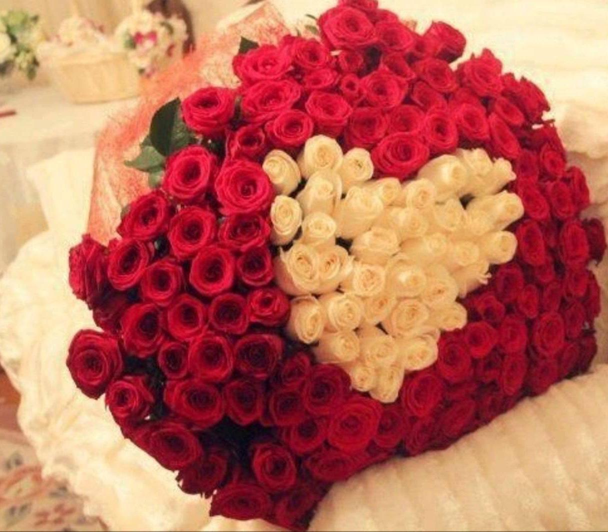Heart of Roses Bouquet - Coração de Rosas Buque Cartao